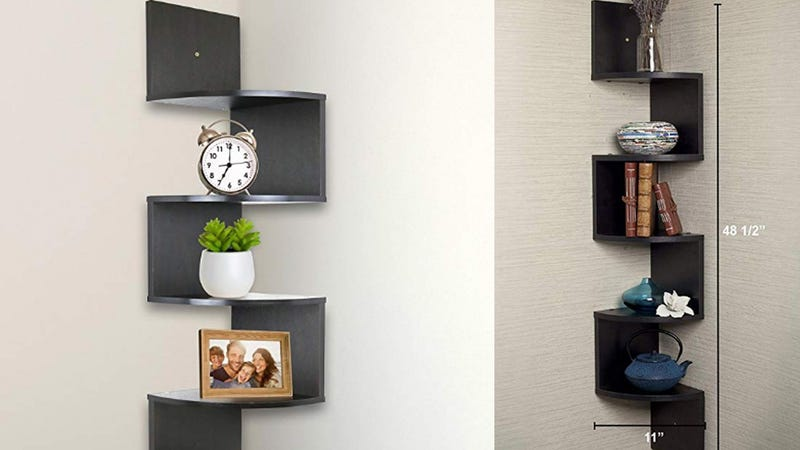 Take Advantage Of Your Corner Wall Space With This 5-Tier Wall Mount