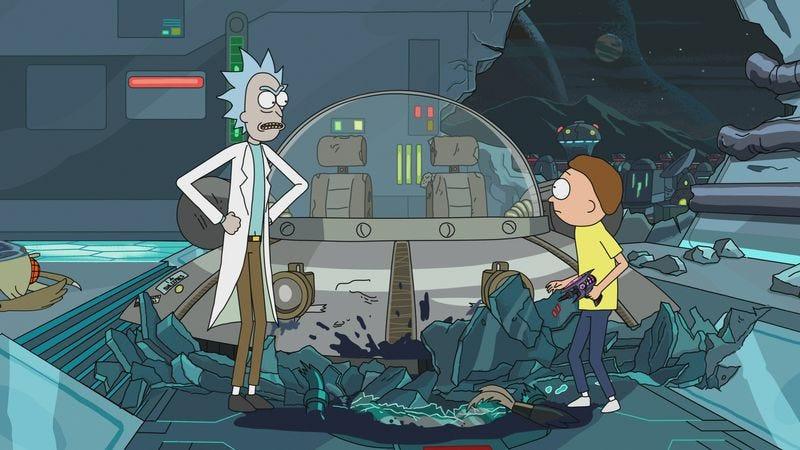 """Illustration for article titled Rick And Morty: """"Mortynight Run"""""""