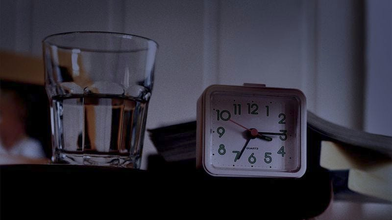 Man Puts Glass Of Water On Bedside Table In Case He Needs ...