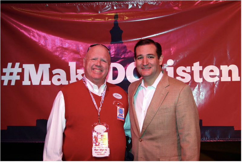 Ray Myers (l) pictured with Ted Cruz
