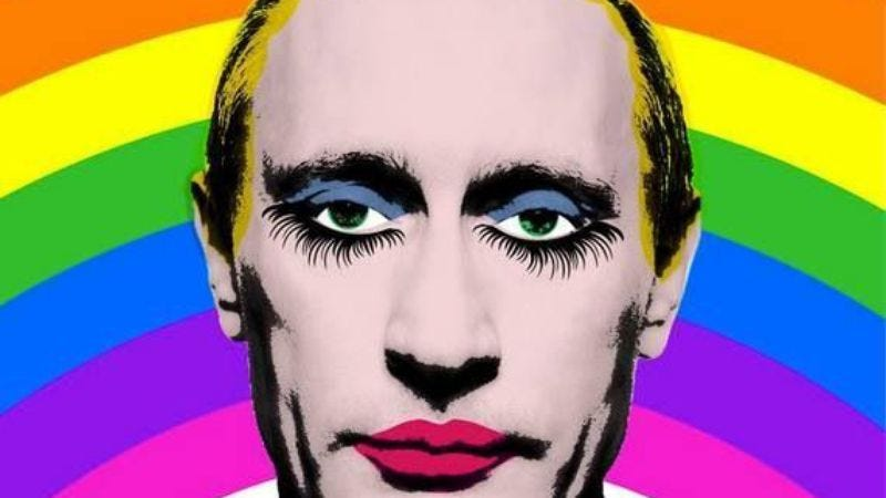 Illustration for article titled This image of Putin is illegal in Russia, so don't distribute it