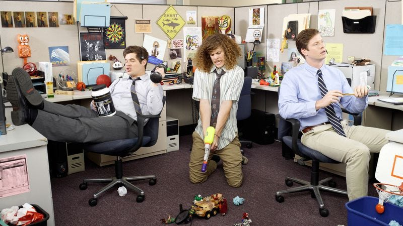 Illustration for article titled No, seriously—now we're covering Workaholics
