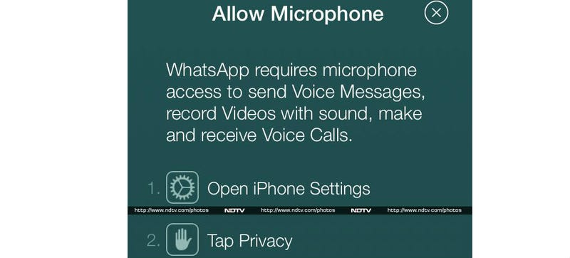Illustration for article titled Voice Calling Spotted in the Latest Version of Whatsapp on iOS