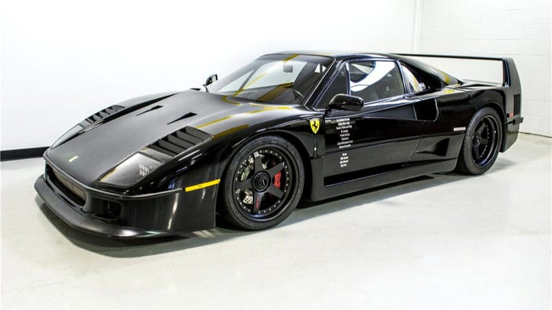 Reggie jackson buys gas monkey 39 s born again ferrari f40 for Garage ford peronne 80