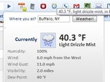 Illustration for article titled Weather Underground for Chrome Provides Simple, Instant Weather Updates