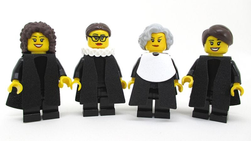 Illustration for article titled Someone made Lego versions of the Supreme Court's female justices
