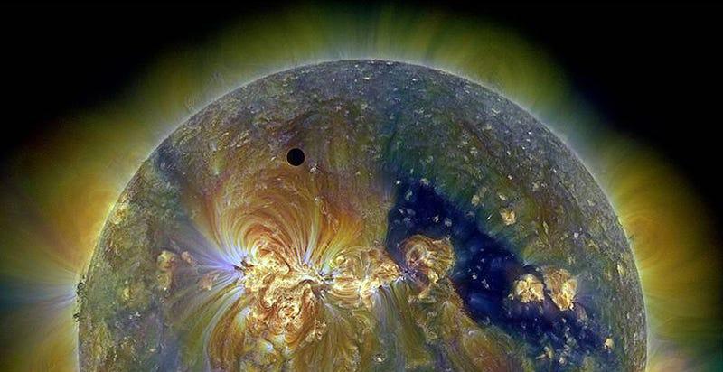 Illustration for article titled El tránsito de Venus frente al Sol, como nunca lo habías visto