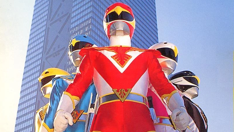 The five Jetman stars, ordinary humans powered by Birdonic Waves to safeguard Earth from extradimensional threats!