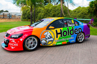Nick Percat's VF Commodore livery for this weekend,