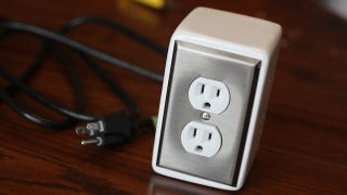 Illustration for article titled This DIY Power Outlet Adds a Pair of Good-Looking Plugs to Any Desk or Surface