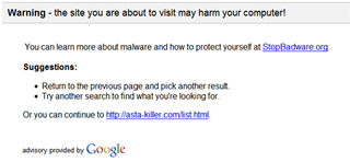 Illustration for article titled Google warns of malware in search results