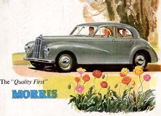 Illustration for article titled The Dilemma Facing British Car Shoppers In 1951: Alvis, Bristol, or Land Rover?