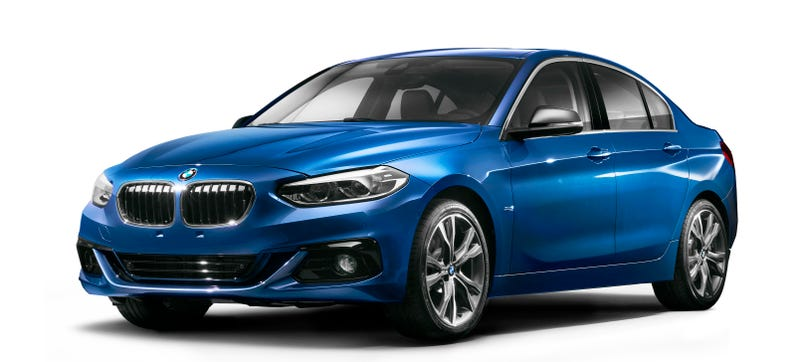 Illustration for article titled The Sacrilegious Front-Wheel-Drive BMW 1 Series Sedan Needs To Come To The States