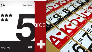 Illustration for article titled Daily Desired: Typography Makes These Playing Cards Beautiful