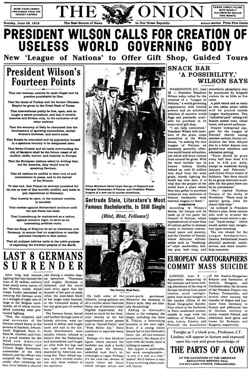 Illustration for article titled June 29, 1919
