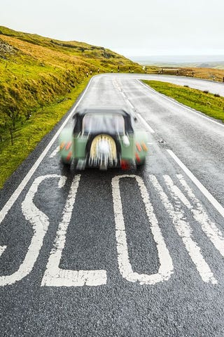"""Illustration for article titled """"Better to drive to 60 in seven seconds than ride there in three""""-Sam Smith"""