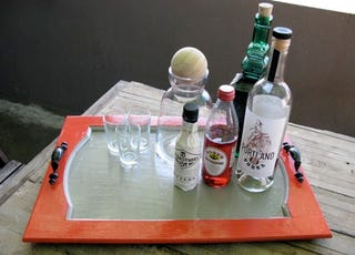Illustration for article titled Make a Serving Tray from a Cupboard Door