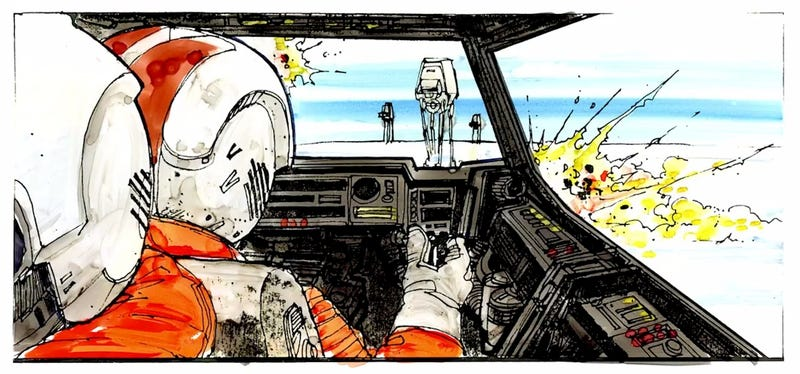 Illustration for article titled Los storyboards completos de Star Wars salen a la luz por primera vez