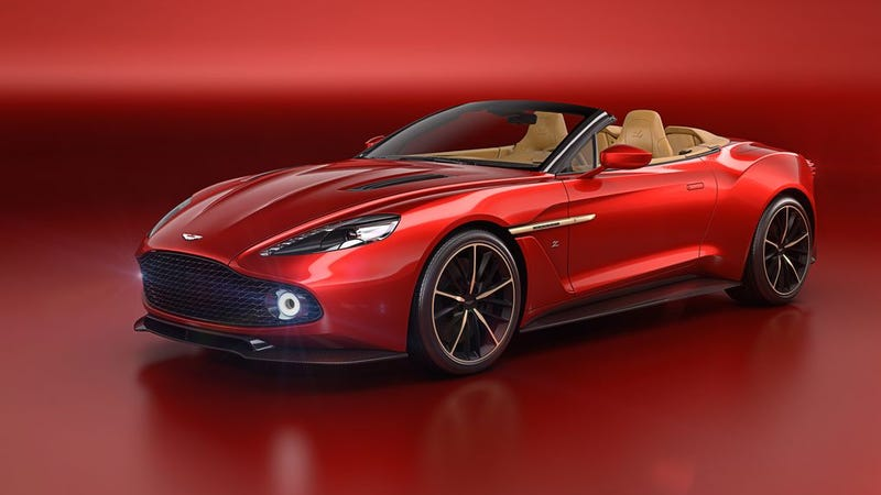 Illustration for article titled The Aston Martin Vanquish Zagato Volante, Or The Names Of My Next Five Children