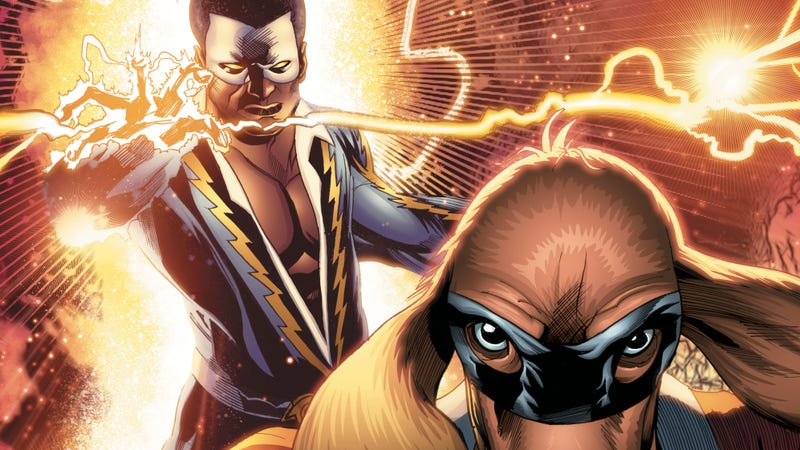 Detail from the variant cover for Black Lightning/Hong Kong Phooey Special #1