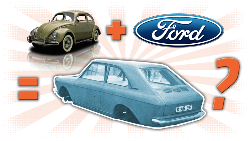 Illustration for article titled That Time Ford Tried To Develop A Better Beetle But Made A Future Volkswagen Instead