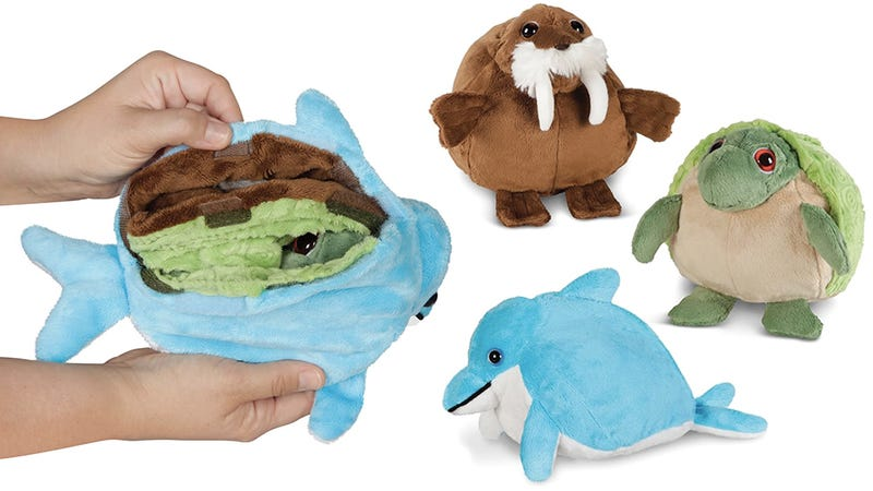 Illustration for article titled There Are Multiple Critters Crammed Inside These Transforming Plush Toys
