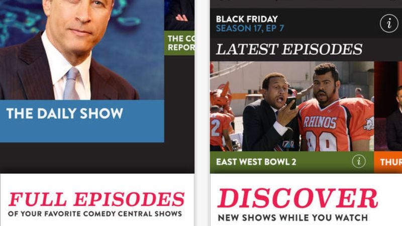 Illustration for article titled New Comedy Central app lets you get offended by shows on the go