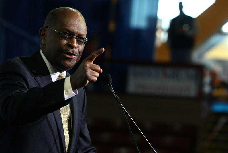 Former GOP presidential candidate Herman Cain speaks at the Southern Republican Leadership Conference, on January 19, 2012 in Charleston, South Carolina.