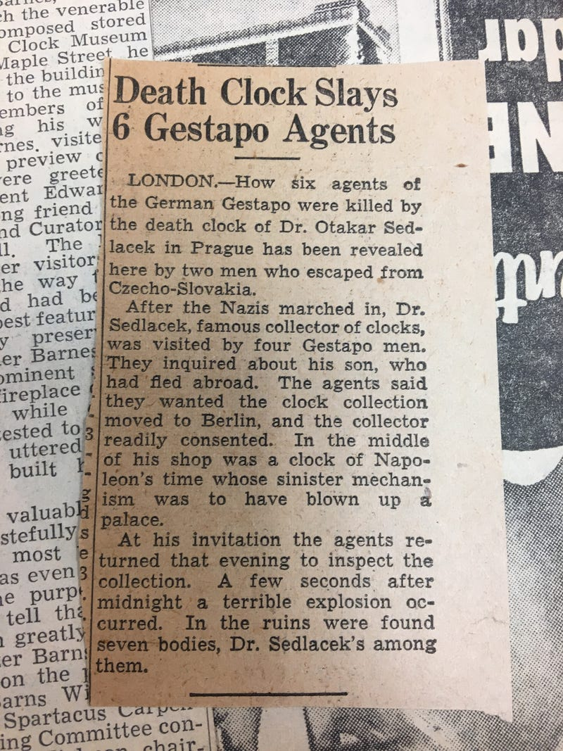 Illustration for article titled Death clock slays 6 gestapo agents
