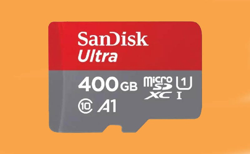 Illustration for article titled ¿Ya no te caben las fotos en el móvil? SanDisk ha creado una MicroSD de 400 GB de almacenamiento