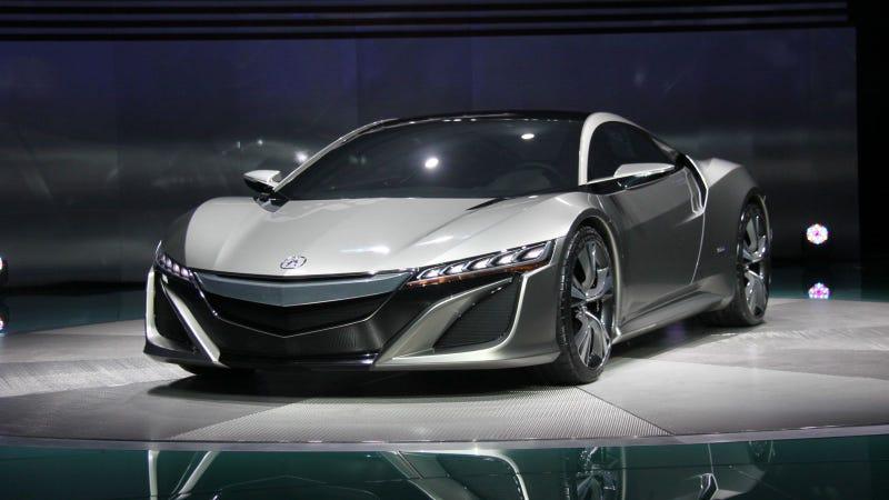 Illustration for article titled Acura NSX Concept: Detroit Auto Show Live Photos, Info