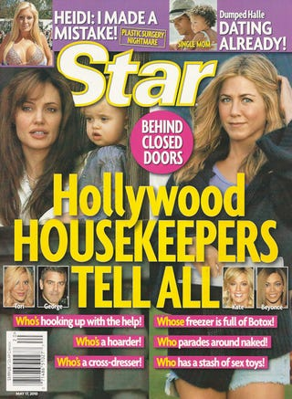 Illustration for article titled This Week In Tabloids: Sandra's People Shoot Involved Jesse; Hollywood Housekeepers Spill Dirt