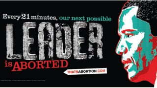 Illustration for article titled New Billboard Claims Women Are Aborting The Next President