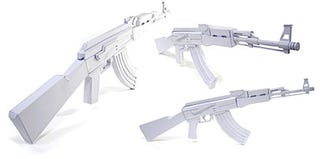 Illustration for article titled AK-47 Paper Gun Model Kit, for Terrorizing Paper Dolls