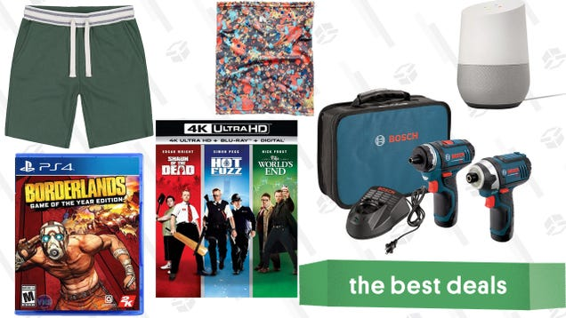 Sunday s Best Deals: Google Smart Home, Bosch Drills, Comfy Shorts, and More
