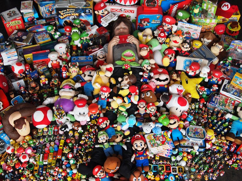 Illustration for article titled Can You Spot The 11-Year-Old In This Mario Pile?
