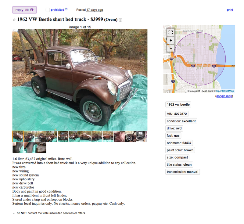 The Antidote to Oversized, Angry Pickup Trucks Is on Craigslist and