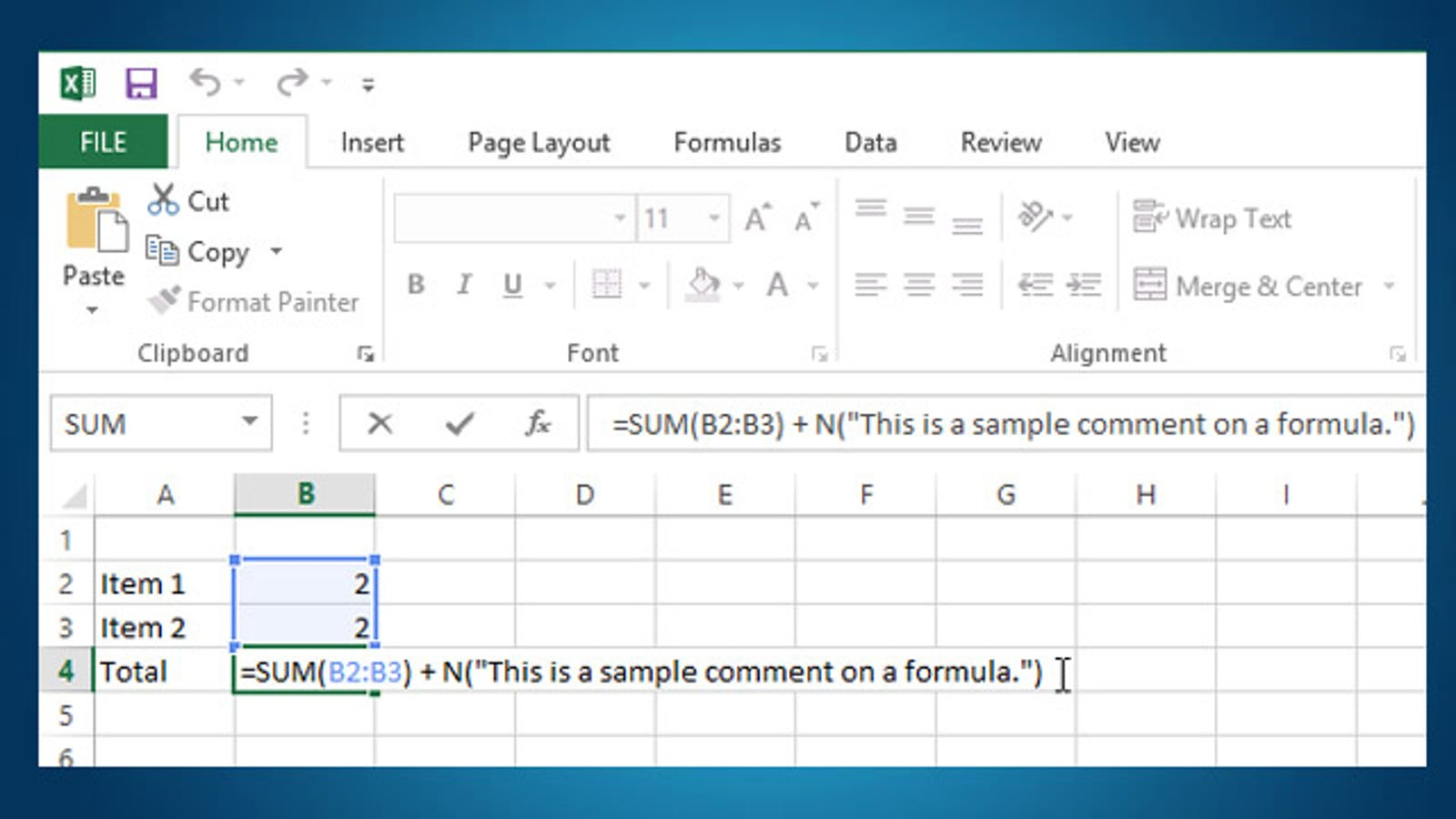 Add comments to a formula in excel for your future reference ibookread ePUb