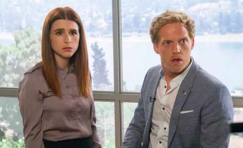 Aya Cash and Chris Geere star in You're The Worst