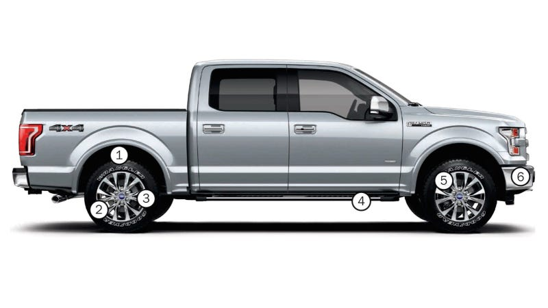How Much Does A Ford F150 Weigh >> Exactly Where The 2015 Ford F 150 Lost Weight Below The