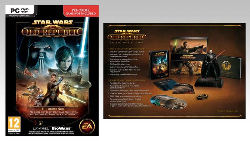 Illustration for article titled Rumor: Star Wars: The Old Republic Collector's Edition Details Leak, Limited Pre-orders Start Thursday
