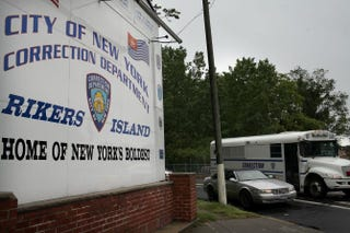 A view of the entrance to the Rikers Island prison complex in New York CitySpencer Platt/Getty Images