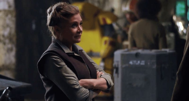 Carrie Fisher in The Force Awakens. Image: lmLucasfi