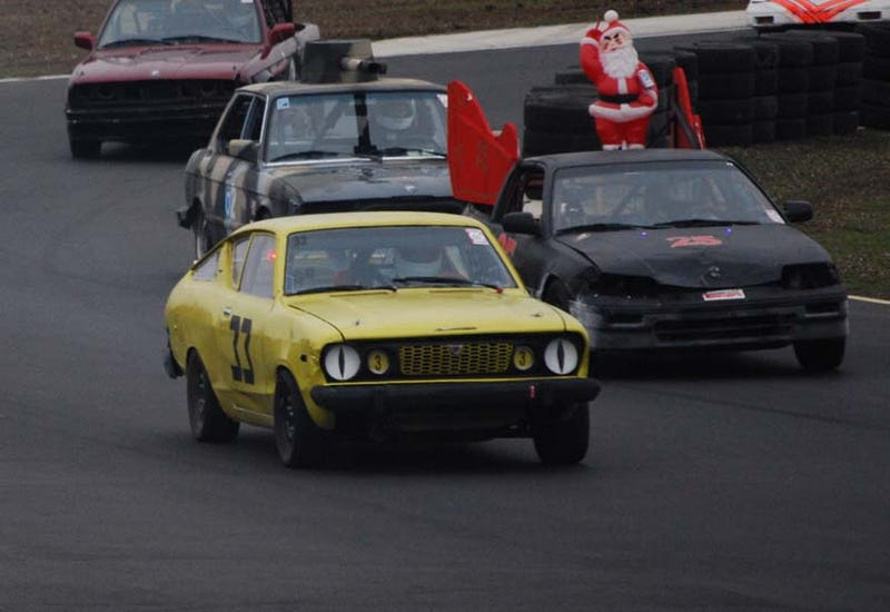 Illustration for article titled The 24 Hours Of LeMons Arse Freeze-A-Palooza Index Of Effluency Winner: B210 Racing!