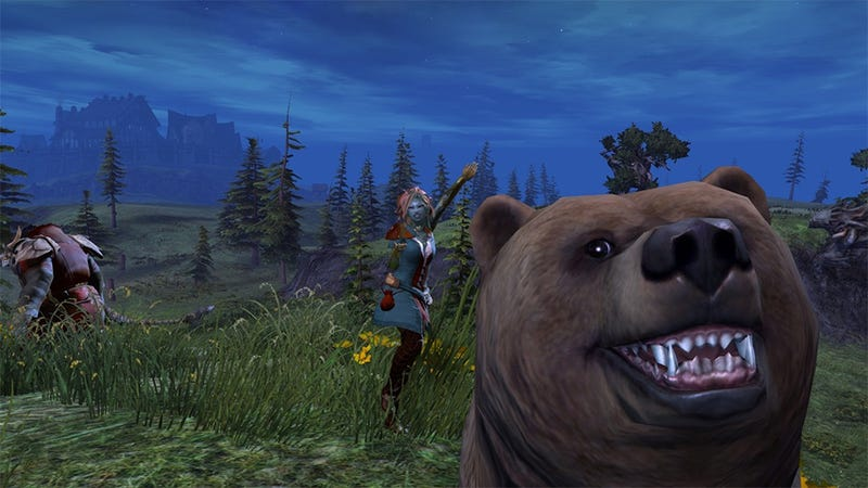 Illustration for article titled Guild Wars 2 Bear Loves to Photobomb