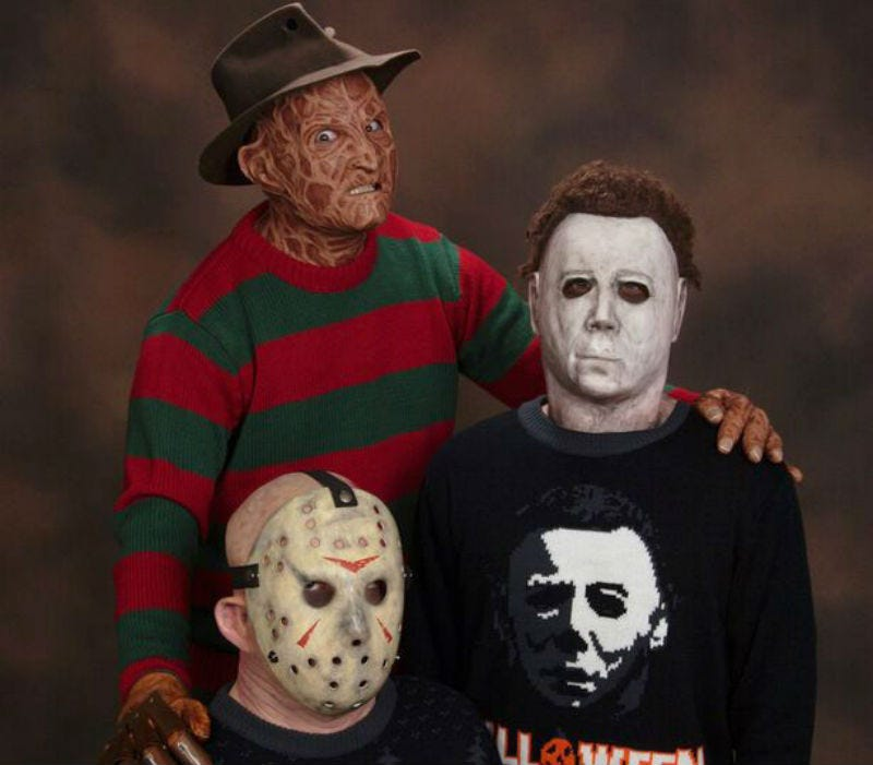 Illustration for article titled These Great Sweaters Help YouGet Personal With Your Favorite Horror Icons