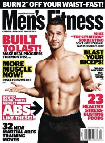 Illustration for article titled The Situation Looks Confused On Men's Fitness Cover