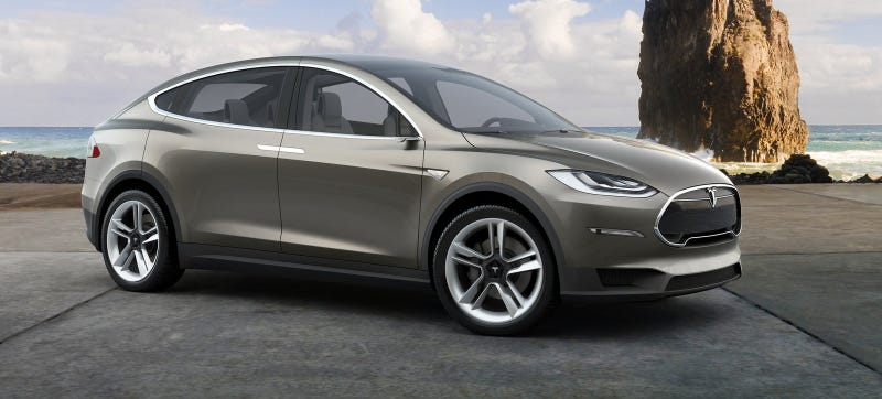 Illustration for article titled The Tesla Model X Will Devour Everything Like A Furious Starving T-Rex