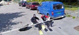Illustration for article titled The Ten Best Google Street View Pranks