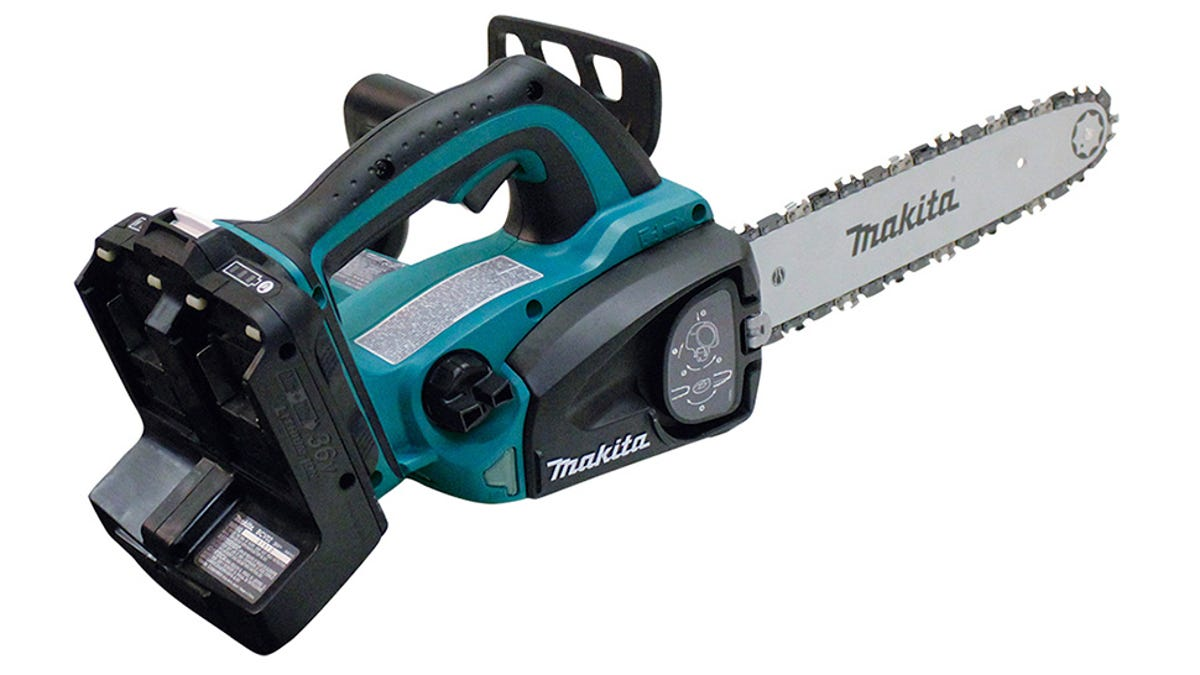 An electric chainsaw so badass it needs two batteries greentooth Choice Image